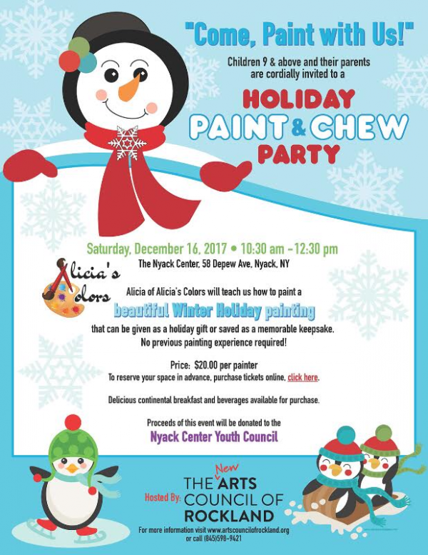 Holiday Paint and Chew Party