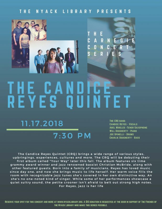 The Candice Reyes Quintet at The Nyack Library