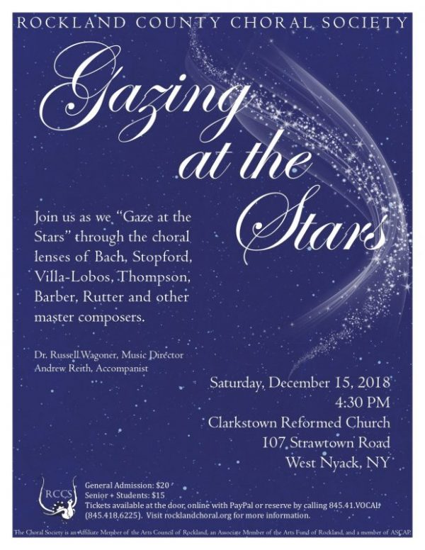 Rockland Choral Society: Gazing at the Stars