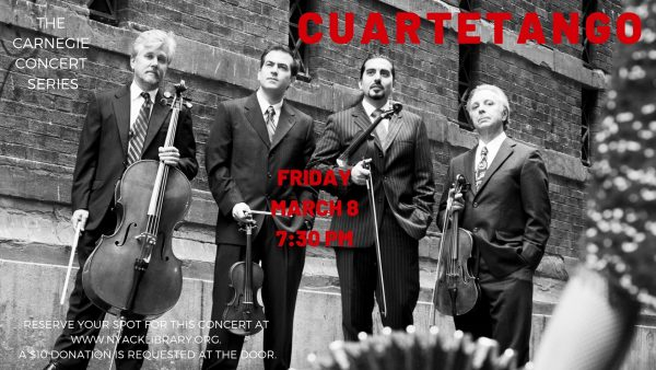 Carnegie Concert at the Nyack Library-Cuartetango