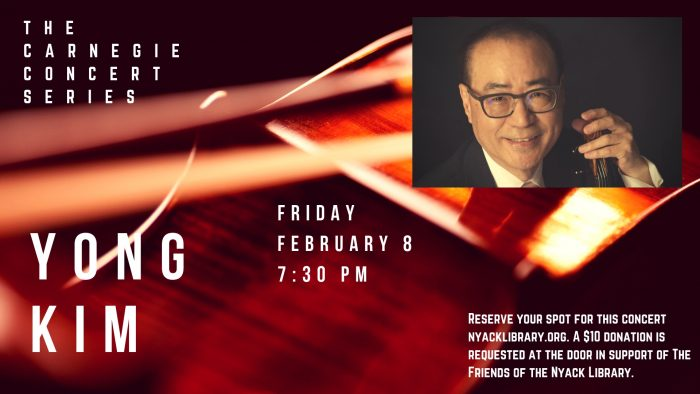 Carnegie Concert-Violinist Yong Kim at The Nyack Library