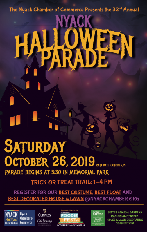 Nyack's 32nd Annual Halloween Parade, plus Village-Wide Trick-or-Treat Trail and Music Festival