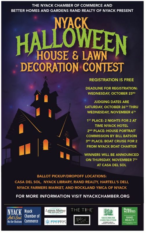 Nyack's 2nd Annual Halloween House and Lawn Decorating Contest, Oct 26-Nov 6