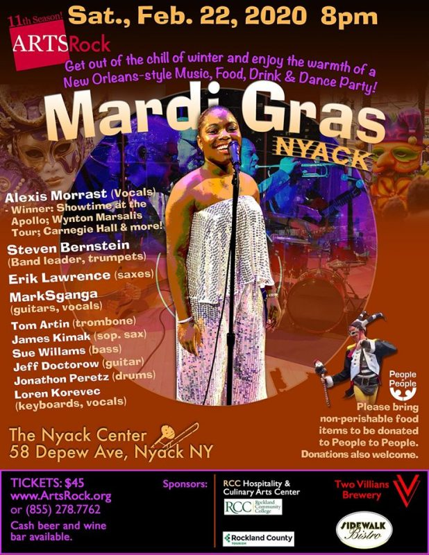 ArtsRock's Mardi Gras in Nyack Concert and Party