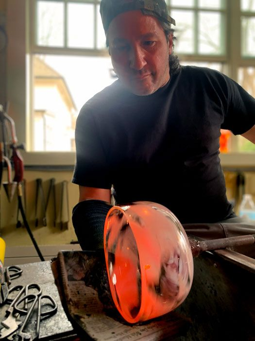 Blown Before Your Eyes: A Virtual Live Glassblowing Experience