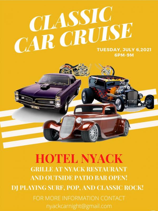 Classic Car Cruise at Hotel Nyack