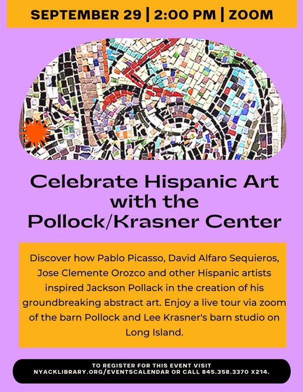 Celebrate Hispanic Art with the Pollock/Krasner Center